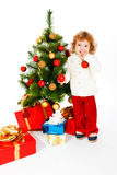 Christmas toddler Stock Photos