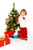 Christmas toddler Stock Photos