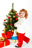 Christmas toddler Royalty Free Stock Photography