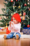 Christmas toddler girl portrait Royalty Free Stock Photography