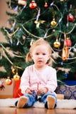Christmas toddler girl portrait Stock Image