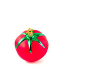 Christmas Tomato Ornament 2. A glass, Christmas ornament in the shape of a red, ripe tomato Stock Photography