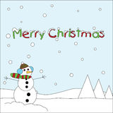 Christmas toon card Royalty Free Stock Image