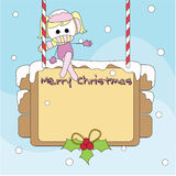 Christmas toon card Royalty Free Stock Photography