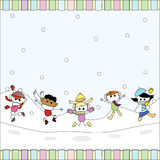 Christmas toon card Royalty Free Stock Images