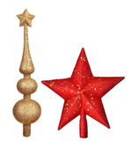Christmas top red star toy Royalty Free Stock Photo