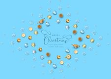 Christmas Top View Background vector illustration