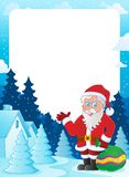 Christmas topic frame 6 Royalty Free Stock Images
