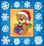 Christmas topic greeting card 1 Royalty Free Stock Photography