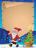 Christmas topic parchment 1 Stock Images