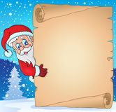 Christmas topic parchment 3 Royalty Free Stock Photo