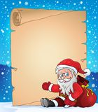 Christmas topic parchment 5 Royalty Free Stock Image