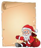 Christmas topic parchment 4 Royalty Free Stock Images
