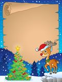 Christmas topic parchment 8 Stock Image