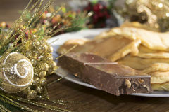 Christmas torrone Royalty Free Stock Image