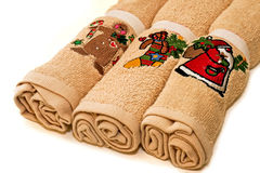 Christmas towels Royalty Free Stock Image