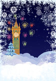 Christmas tower Royalty Free Stock Images