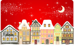 Christmas town. Old town decorated for Christmas Royalty Free Stock Photography