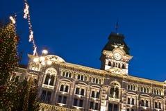 Christmas Town Hall stock image