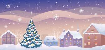 Christmas town Stock Photos