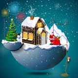 Christmas town. Merry Christmas! Christmas composition. Happy New Year Stock Photos