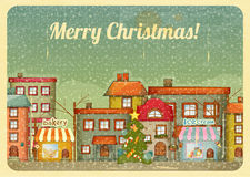 Christmas town Royalty Free Stock Photos