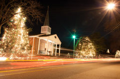 Christmas town usa Stock Image