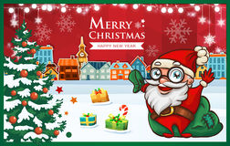 Christmas Town Stock Images