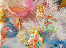 Christmas toy. New Year's toys what to make a holiday is brighter royalty free stock images