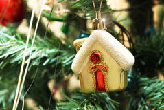 Christmas toy. In the form of home close up Royalty Free Stock Images