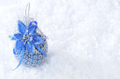 Christmas toy. S on snow background Royalty Free Stock Image