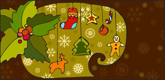 Christmas Toy Background Royalty Free Stock Photo