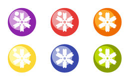 Christmas toy balls with snowflakes. Vector. Image Royalty Free Stock Images