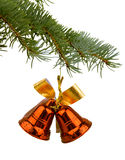 Christmas toy bells. On white background Stock Images