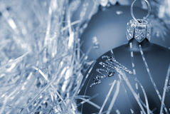 Christmas toy blue toned Royalty Free Stock Images