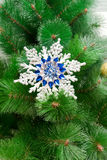 Christmas toy on a Christmas tree closeup Royalty Free Stock Photos