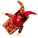 Christmas toy clown. On  white background Royalty Free Stock Images