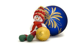 Christmas toy with colorful New Year Balls Royalty Free Stock Photography