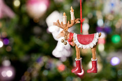 Christmas toy - deer with tree and lights Stock Images
