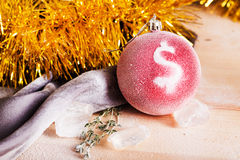 Christmas toy with a dollar sign Royalty Free Stock Photography