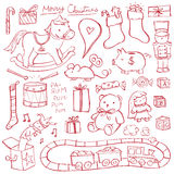 Christmas Toy Doodles. Christmas toys illustrated in a doodled style Royalty Free Stock Photography