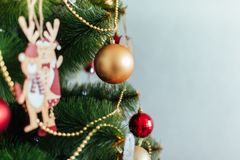 Christmas toy drive. Christmas elkay. Christmas gifts. Beautiful photo Stock Photos