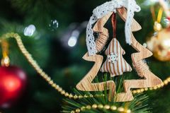 Christmas toy drive. Christmas elkay. Christmas gifts. Beautiful photo Stock Images