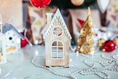 Christmas toy drive. Christmas elkay. Christmas gifts. Beautiful photo Royalty Free Stock Photo