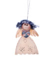 Christmas toy fairy. On an isolated background Stock Photography