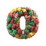 Christmas toy font. Isolated on white background. 3D illustration Stock Image