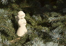 Christmas toy in the form of an angel. Stock Photo