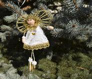Christmas toy in the form of an angel Stock Photos