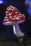 Christmas toy in the form of a fly agaric Royalty Free Stock Photography