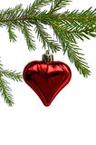 Christmas Toy in the form of heart Stock Images